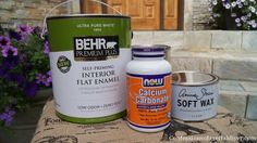 Save big money on your painting projects with DIY chalk paint. This recipe uses calcium carbonate.
