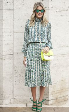 Tory Burch dress and Valentino bag