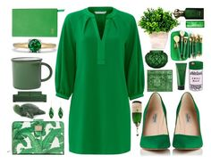 """""""""""Green is the prime color of the world, and that from which its loveliness arises""""  ~Pedro Calderon de la Barca"""" by infintyforever ❤ liked on Polyvore featuring Clive Christian, Lalique, Peter Thomas, Dolce&Gabbana, Miss Selfridge, Neville, Smythson, Dot & Bo, Trina Turk and Aurélie Bidermann"""