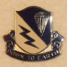 "US Army 507th Infantry Regiment ""Down To Earth""  DUI Insignia Crest Pin Badge"
