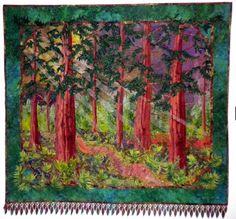 Pictures of Landscape and Art Quilts: Fantasy Forest Landscape Quilt