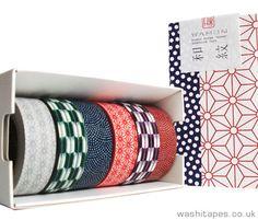 MT Wamon 6 piece pattern Washi Tape