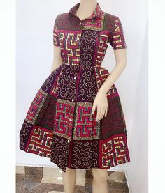2019 African Fashion Finests: Ankara Short Gown Styles By Diyanu Short African Dresses, Ankara Short Gown Styles, Latest African Fashion Dresses, African Print Dresses, African Print Fashion, Ankara Fashion, Fashion Outfits, Africa Fashion, African Dress Styles