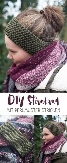 Knitting DIY headband with pearl pattern - small DIY gift .-DIY Stirnband mit Perlmuster stricken – kleine DIY Geschenkidee Knitting DIY headband with pearl pattern – DIY gift idea for best friend – easy guide for beginners creative fever - Knitting Blogs, Knitting For Beginners, Knitting Projects, Knitting Patterns, Crochet Patterns, Fall Knitting, Knitting Ideas, Diy Headband, Knitted Headband