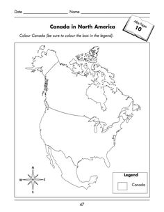 North America pattern. Use the printable outline for