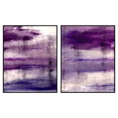 A chic addition to your entryway or living room, this framed giclee print showcases an abstract design in shades of purple. Pair it with a bouquet calla lili...
