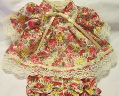 """Roses Print Dress/bloomers, fits 12"""" Corolle Tidoo dolls and others"""