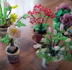 lovely mini beaded flowers
