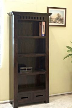 Solid Wood Kuber Bookcase