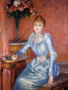 Пьер Огюст Ренуар -  Madame Robert de Bonnieres  (1889) - Открыть в полный размер