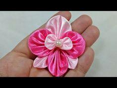105) Tutorial mini orchid kanzashi || Anggrek mini kanzashi - YouTube