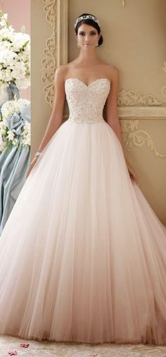33 Pretty Wedding for Your Wedding - part mariage mariage boheme champetre champetre deco deco robe romantique decorations dresses hairstyles Pink Wedding Dresses, Bridal Dresses, Dress Wedding, Princess Wedding Dresses, Lace Dresses, David Bridal Wedding Dresses, Bridesmaid Dresses, Dipped Wedding Dress, Poofy Wedding Dress