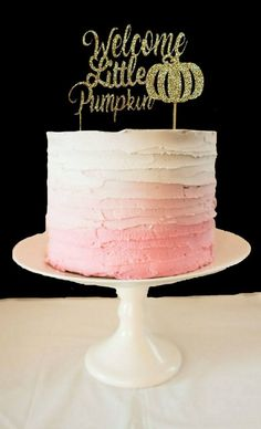 Excited to share the latest addition to my shop: Welcome Little Pumpkin Cake Topper, Baby Shower Topper, New Baby Cake Topper, Little Pumpkin Cake Topper, Fall Shower Little Pumpkin Shower, Little Pumpkin Party, Baby In Pumpkin, Baby Girl Shower Themes, Girl Baby Shower Decorations, Baby Shower Cakes, Baby Cakes, Pumpkin First Birthday, Fall Birthday