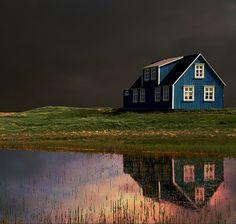 Farm house in Iceland. Sandgerði by Sverrir Thorolfsson, via Flickr