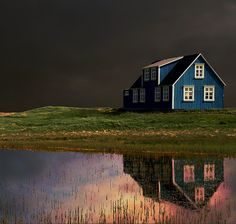 Farm house in Iceland. Sandgerði by Sverrir Thorolfsson, via Flickr