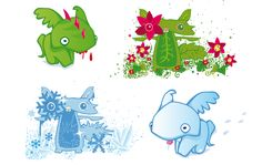 winter and summer eekhoorns Character Illustration, Concept Art, Pikachu, Flora, Winter, Summer, Fictional Characters, Winter Time, Conceptual Art