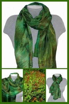 The silk scarf is perfect for year-round wear and makes a great luxury gift for someone you love or a much-deserved treat for yourself!This method of dyeing enables the colors to creep and flow throughout the silk-giving each piece a wonderful watercolor effect. The dyes flow into each other, creating a complex variety of color gradations. #silk #scarf #ideas #Сhristmas #gift