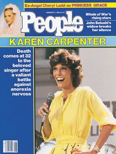 singer Karen Wood employee fell sufferer to heart failure brought about by the chemical emetine after an eight-twelve months war with anorexia Karen Carpenter Death, Richard Carpenter, Sabrina Carpenter, Old Magazines, Vintage Magazines, People Magazine, Life Magazine, Karen Richards, Karen Wood