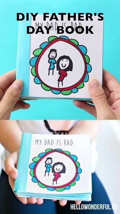 Kid-Made Free Printable Father's Day Book. Get the templates to make this cute gift for dad! gifts for dad from kids birthdays Kid-Made Free Printable Father's Day Book Diy Birthday Gifts For Dad, Diy Gifts For Dad, Cute Gifts, Diy Books For Dad, Dad Birthday Card, Papa Tag, Diy For Kids, Crafts For Kids, Father's Day Activities