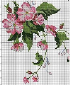This Pin was discovered by ozn Cross Stitch Rose, Cross Stitch Flowers, Cross Stitch Charts, Cross Stitch Designs, Cross Stitch Patterns, Loom Patterns, Cross Stitching, Cross Stitch Embroidery, Hand Embroidery