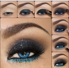 Wow tolles dramatisches Augen Make-up für feierliche Anlässe (Cool Makeup) Makeup Tutorial Wow great dramatic eye make-up for solemn occasions Step By Step Whole Makeup Tutorial Midnight Blue by vegas_nay The Amazing World of Motive by Loren Ridinger Mo Dramatic Eye Makeup, Eye Makeup Steps, Blue Eye Makeup, Smokey Eye Makeup, Makeup Tips, Smoky Eye, Purple Eyeliner, Makeup Ideas, Makeup Pictorial
