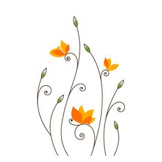 Vinilos Flores de Encanto Wall Painting Decor, Stencil Painting On Walls, Mural Wall Art, Fabric Painting, Wall Drawing, Art Drawings, Hand Embroidery Flowers, Flower Doodles, Diy Arts And Crafts