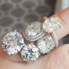 Engagement Rings - Micro-pave