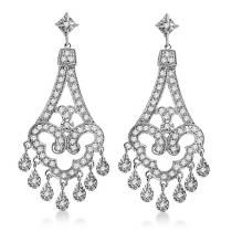 #Allurez                  #Wedding Gifts            #Dangling #Chandelier #Diamond #Earrings #White #Gold #(1.08ct)               Dangling Chandelier Diamond Earrings 14K White Gold (1.08ct)                                            http://www.snaproduct.com/product.aspx?PID=5758420