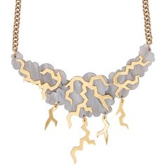 Thunderstorm Statement Cloud Necklace | Tatty Devine ($175) ❤ liked on Polyvore featuring jewelry, necklaces, laser cut jewellery, lucite necklace, statement necklace, laser cut acrylic jewelry and acrylic jewelry