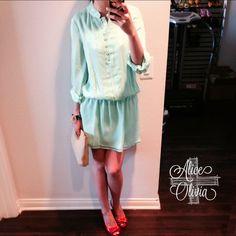 """Spotted while shopping on Poshmark: """" Alice + Olivia Mint Shirtdress S""""! #poshmark #fashion #shopping #style #Alice + Olivia #Dresses & Skirts"""