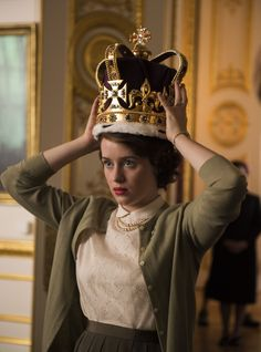 "Foy in ""The Crown."" set to premiere on Netflix sometime in Foy in ""The Crown."" set to premiere on Netflix sometime in Netflix Series The Crown, The Crown Series, Crown Netflix, Tv Series, The Queen Series, Drama Series, St Edward's Crown, Crown Tv, Princess Elizabeth"