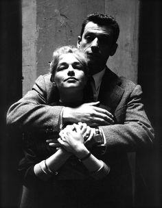 ...like a girl — Simone Signoret and Yves Montand, Paris 1953 (F.C....