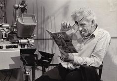 Nicholas Ray reading comics