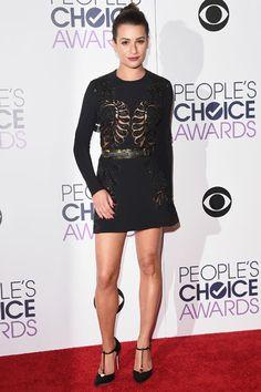Lea Michele em premiação em Los Angeles, nos Estados Unidos