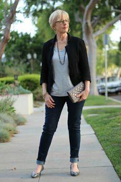 Casual mature woman fashion