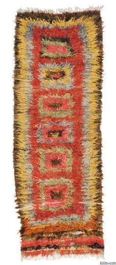 Vintage Anatolian Tulu Rug. #TuluRug #Vintage #Boho