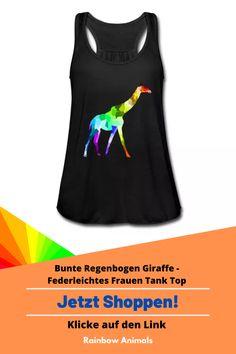 Kaufe dir jetzt dieses Tank Top für die warmen Tage des Jahres. Lass dir dieses und weitere Tier-Zeichnungen auf deine Damenmode drucken   Schau jetzt in unserem Shop vorbei! Klicke jetzt auf den Link! #TankTop #Top #Giraffe #Damenmode #oofd #Säugetiere #Tiere #Animals