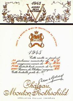 Chateau-Mouton-Rothschild-1945 Philippe Jullian,