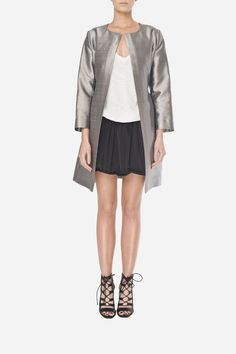 55 Silver silk coat - 1700zł (425€)