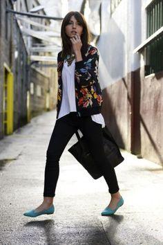 dark floral bomber jacket