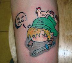 Legend of Zelda Tattoo -- super cute.