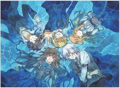 Gilbert, Oz, Ada, Break and Alice of Pandora Hearts by Jun Mochizuki.