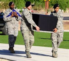 Military working dog - funeral, with full honors