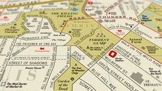 A Street Map Of Famous Places In The Movies