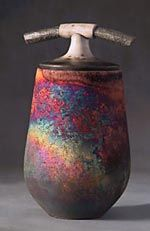 Love the colors of raku