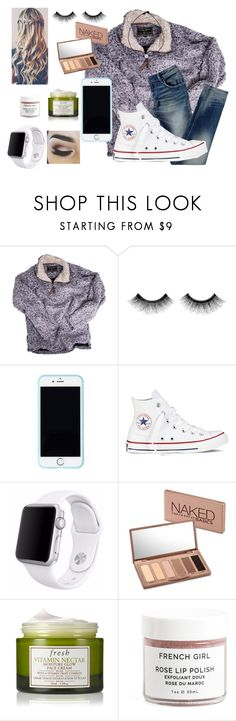 """""""Had the cutest highschooler hit on me at church yesterday❤️️"""" by preppy-lexi-1013 ❤ liked on Polyvore featuring True Grit, Urban Decay, Lilly Pulitzer, Converse, Apple and Fresh"""