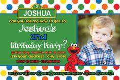 Custom Made Sesame Street Birthday Invitation