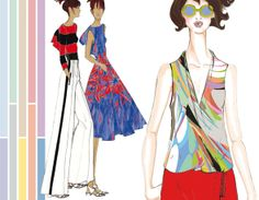 Vibrant hues like Cayenne and dazzling blue + soft pastels and neutrals for the 2014 color palette l #fashion maxitendance.com