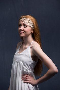 Bridal Headpiece Crystal Headpiece Wedding by OverTheMoonBridal