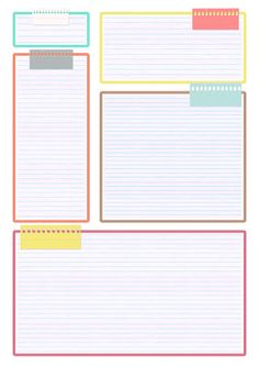 Bullet Journal School, Bullet Journal Ideas Pages, Printable Recipe Cards, Templates Printable Free, Free Printables, Agenda Planner, Planner Pages, Weekly Planner Printable, Planner Template